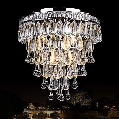 YANQING Duurzame Plafond Lampen Crystal Plafond Lamp, Plafond Licht voor Corridor Porch, Water Drop Creatieve Aluminium Plafond Lamp Verlichting Kroonluchter Plafond Lichten