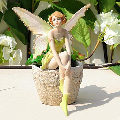 DOCOLA Flower Fairy Angel Statues TV Stand Decor Modern and Elegant Style Art Decorative Ornaments for Bookshelf Congratulatory Gifts