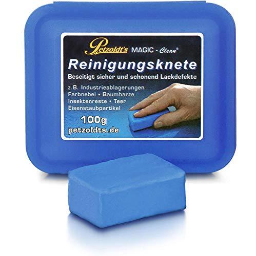 Petzoldt\'s Profi-Reinigungsknete Magic-Clean, Blau, 100 Gramm, Lackknete