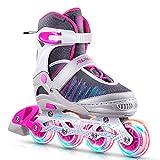 PAPAISON インラインスケート ローラースケート 女の子 男の子 初心者向け 大人 キッズ 子供用 Inline skate サイズ調整可能
