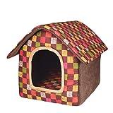 Teddy Zwinger klein mittelgroß Hund Hundezwinger Sommer Haustier Nest Katzenstreu Indoor Hundehütte Vier Jahreszeiten Universal Hundehütte (Farbe: C, Größe: M)