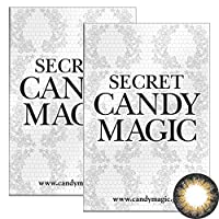 Secret Candymagic monthly シークレット キャンディー マジック マンスリー 【カラー】NO.6ブラウン 【PWR】-7.00 1枚入 2箱