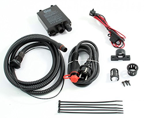 Tuning-Pro Calix Erhaltungsladegerät/Batterie-Ladegerät Festeinbau 12V / 5A, inkl. Einbau- & Anschlußkabel (Kabel-Länge Motorraum: 1,5m* - BC1205 + MKMS1525
