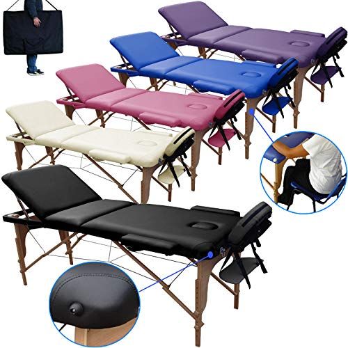 Beltom Table de Massage 3 Zones Classique Portables 180 x 56 cm....