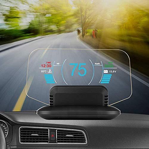 Head Up Display HUD Per Auto Display a Specchio OBD II / GPS Dual System HUD, Direzione, Velocità, Avviso Di Velocità Eccessiva, Misurazione Del Chilometraggio, Temperatura Dell'acqua, Per Tutti I V