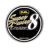 DUEL(デュエル) PEライン 1号 スーパーエックスワイヤー8 (Super X-wire 8) 150m 1号 10m×5色 ホワイトマーキング H3605