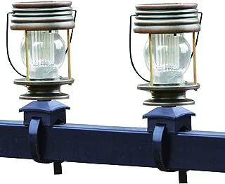 Retro Villa jard/ín jard/ín luz balc/ón luz Caballo luz Colgante l/ámpara DJSDFHB Luz de la Correa de la barandilla Solar LED Dos