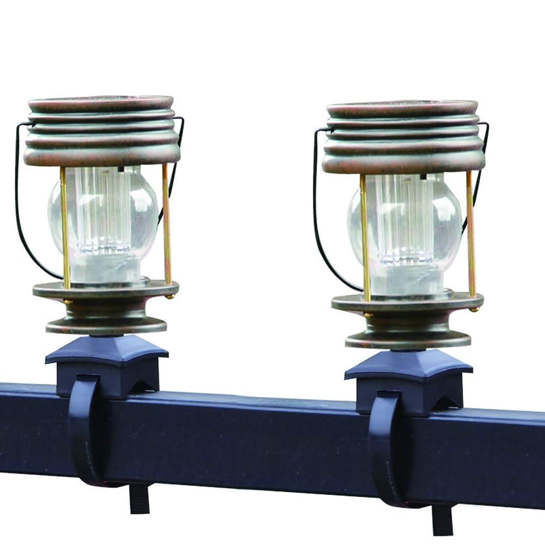 シャープ不明瞭好きLEDソーラーレールストラップライト、レトロヴィラガーデンガーデンライトバルコニーライトホースライトハンギングランプ(2個)