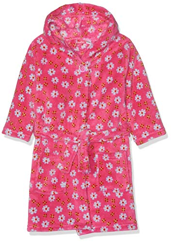Playshoes Fleece-Bademantel Blumen Peignoir, Rose (Pink 18), 86/92 Bébé Fille