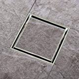 Vedas Stainless Steel SS 304 Reverse Plate Tile/Marble Insert Jali/Square Drainer for Bathrooms Floor, Roofs, Terraces, Balconies Floor Water Drain Grating with Anti-Foul Cockroach Trap (6' x 6')