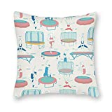 Odin sky Dekorative Trampolin-Muster Platz Throw Pillow Cover Canvas Kissenbezug Sofa Couch Chair...