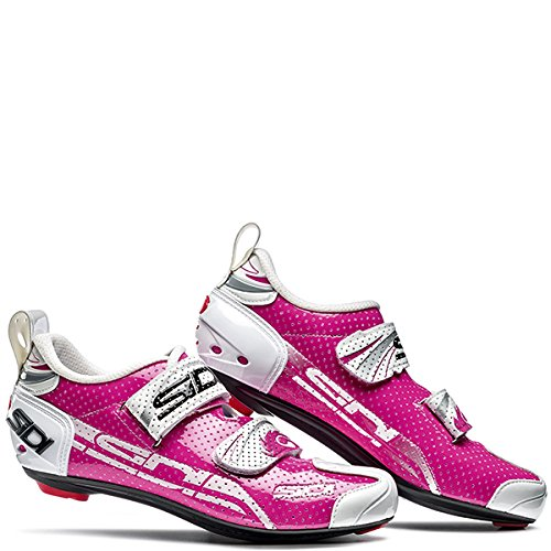 Sidi T de 4Air Carbon Zapatilla de Ciclismo Mujer Rosa/Blanco, unisex, 38