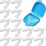 16 Piezas Kit de Bandejas Dientes Boca Set de Bandejas de Dientes Incluye 15 Bandejas Bucales de Blanqueamiento Dental y Caja de Retención de Protector Bucal para Blanquear Dientes