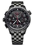Victorinox Uomo Airboss Mach 9 Black Edition - Orologio cronografo automatico in acciaio...