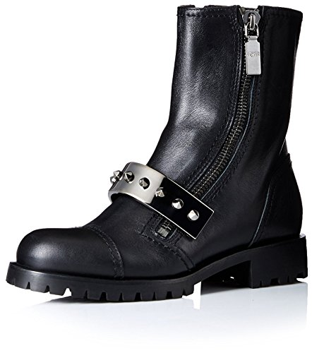 Alexander McQueen Women's Moto Boot, Black, 40 M EU/10 M US