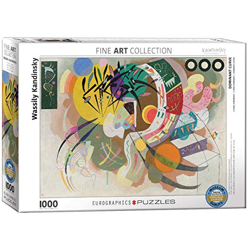 EuroGraphics Puzzle Wassily Kandinsky Dominant Curve 1000 Pezzi, Multicolore