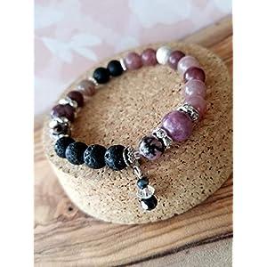 Lepidolite Diffuser Bracelet, Healing Crystals, Anti-Anxiety Balance Bracelet