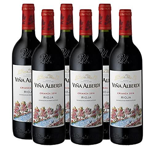 Vino tinto Viña Alberdi Crianza de 75 cl - D.O. La Rioja - Bodegas La Rioja Alta (Pack de 6 botellas)
