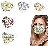 Wythe 4 plis 50 couverture du visage, efficacité ≥ 94 %, masque protecteur du visage, non lavable, non réutilisable, version coréenne, cadeaux (mixte)