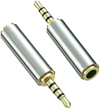 Aigital Audio Adapter 2.5mm Male to 3.5mm Female Premium Quality Converter Headphone Earphone Headset 3 Ring Jack - Stereo or Mono [ 2 Pack ]