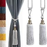 Melodieux Cortina de Corbata de Borla de la Cortina Cuerda Tiebacks para la decoración del hogar, Set de 2