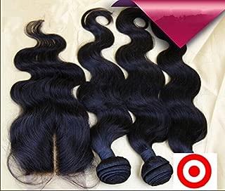DaJun Hair 7A 3 Hair Bundles With Mid-Part Lace Closures Philippines Virgin Remy Human Hair Body Wave Natural Color (trademark:DaJun)16