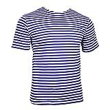 Epic Outdoor - Camiseta de paracaidista ruso - rayas azules claras