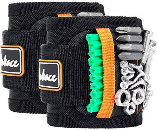 Magnetic Wristband Tool Belts with 15 Strong Magnets for Holding Screws Nails Drill Bits Great product image