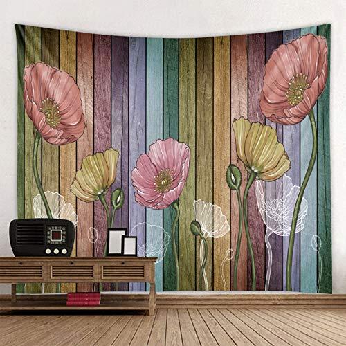 KHKJ Tapiz con Estampado de Flores de Mariposa 3D, Tapiz de Mandala, Toalla de Playa Redonda Bohemia, Manta Protectora Solar, Bohemia A1 150x130cm