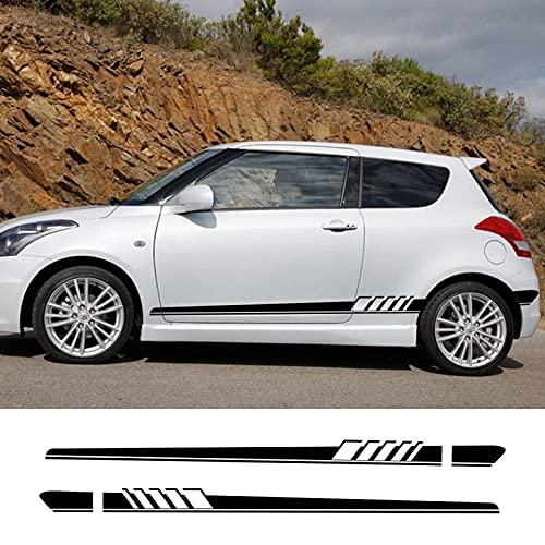 ASDFGZXC Auto Pegatinas de Calcomanías Body Stripe Lateral, para Suzuki Swift SX4 Jimny Ignis Alto Samurai Baleno Grand Vitara Pegatina de Rayas Laterales de Coche película de Vinilo