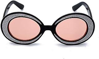 QPRER - Gafas De Sol,Rosa Retro Pequeño Y Encantador Verano Niños Calle Gafas De Sol Anti-UV Niñas Playa Bonita Viento Y Polvo Gafas IR De Compras Gafas Recuerdo Regalo De Cumpleaños