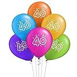 ocballoons Juego de 20 globos para cumpleaños de 40 años, biodegradables, de látex,...