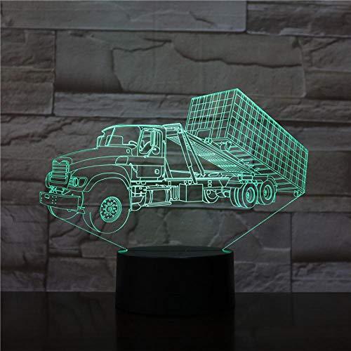 3D Luz nocturna para niños lámpara de ilusión óptica para inverted decoración de dormitorio regalo lámpara de noche creativa regalo Con interfaz USB, cambio de color colorido