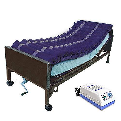 Timedsey drukmatras voor logeerbed, Ulcera Pression en behandeling met pleisters geluidsarm variabel met wisselstroom Navy, Perforated Blue