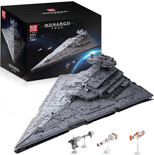 KEAYO Mould King 13135 - Juego de construcción de 11885 piezas grandes UCS Super Star Destroyer MOC, bloques de montaje compatibles con el destructor de estrellas Lego