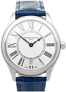 Frederique Constant Women's Classics 36mm Blue Leather Band Steel Case Quartz Analog Watch FC-220MS3B6