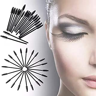 100 Pieces Disposable Eyelash Mascara Brushes Makeup Tool Kits,100CS-Black