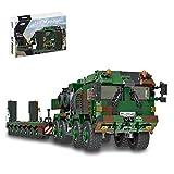 Likecom Technik Panzerträger Bausteine, Panzer Transporter bausatz 1912 Teile Militär LKW Modell Klemmbausteine Kompatibel mit Lego Technic