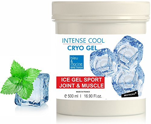 INTENSE COOL CRYO GEL Gel Froid 500 ml - Gel Sport Articulations Circulatoire Effet Froid Anti Gonflement Menthe & Camphre