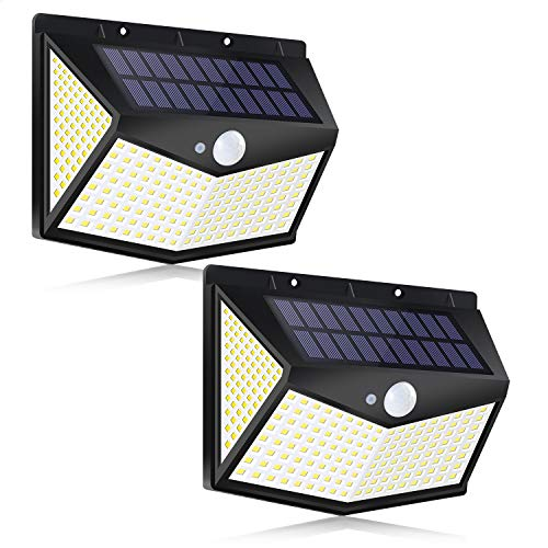 2-Pack LEEHBY 212LED Outdoor Solar Wall Lights Only $14.99 (Retail $29.99)