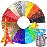 WESEN 3D Pen/Printer Filament Refills 3D Printing Drawing Pen Filament 1.75mm PLA of 18 Vibrant...