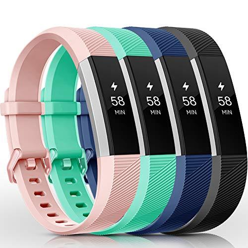 Onedream Compatibile per Fitbit Alta HR Cinturini/Alta Cinturino/Ace Bracciale Braccialetto Sport Nero Rosa Teal Blu (nessun Tracker),S