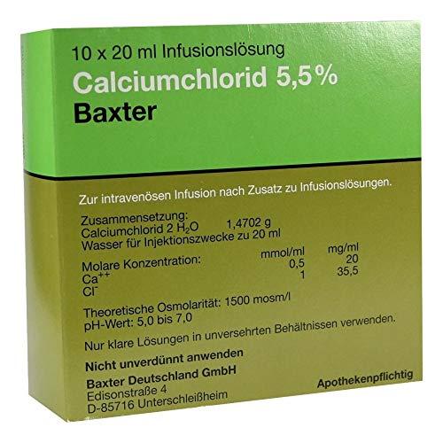 CALCIUMCHLORID Lösung 5,5% Ampullen 10X20 ml