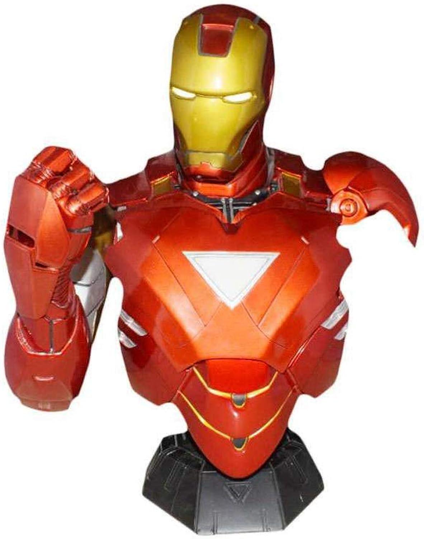 deportes calientes Jian E E- Iron Man Character Model 1 1 1  2 Busto de Escultura Busto Juguetes para Niños, Decoraciones para el hogar - Resina  promociones emocionantes