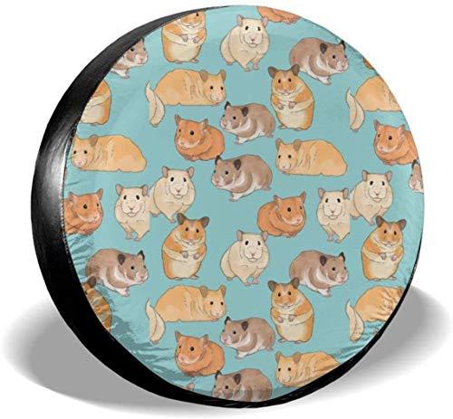 MODORSAN Hamsters - Cubiertas universales de poliéster para Rueda de Repuesto para Llantas, para Jeep, Remolque, RV, SUV, camión, Accesorios, 17 Pulgadas