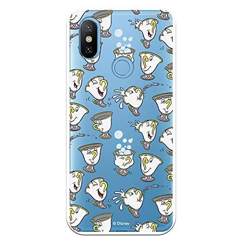 Funda para Xiaomi MI A2 - Mi 6X Oficial de La Bella y la Bestia Chip Potts Siluetas para Proteger tu móvil. Carcasa para Xiaomi de Silicona Flexible con Licencia Oficial de Disney.