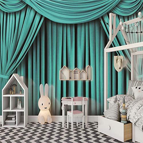 Fototapete Vorhang Vorhang 3D Tapete Vliestapete Moderne Wanddeko Design Tapete Wandtapete Wand Dekoratio Wohnzimmer TV Hintergrundwand - 300cm(W) x210cm(H) - 6 Stripes