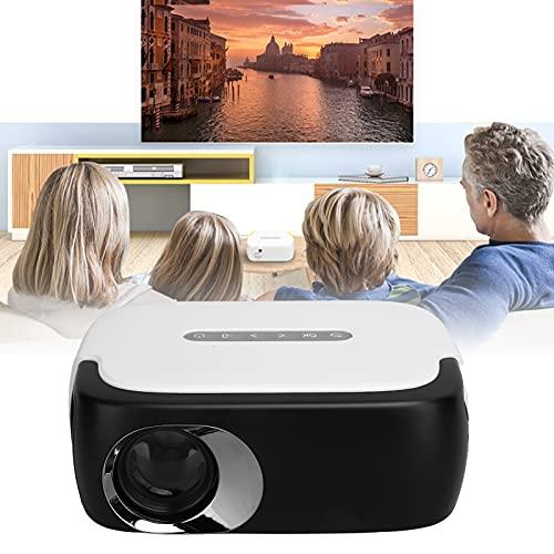 Projektor, Smart Projector Hochwertige Bildqualität 100 Zoll Großbild-TV-Decoder-Chip für Computer für Zuhause für Kopfhörer for(Transl)