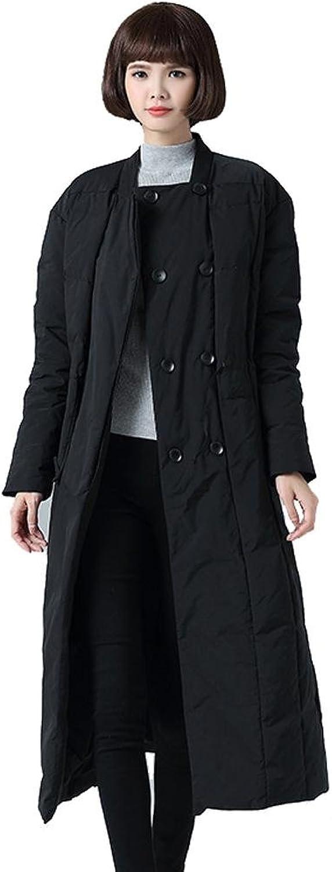 Byjia Down jacket Mode Leicht Frau Nach Unten Jacke Verdickt Lange Schlank Mntel Outwear Warm Taste Parkas