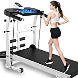FFKL Treadmills Professional Treadmill, Household Treadmill, Fitness Weight-Loss Exercise Equipment for Home Foldable Function,White